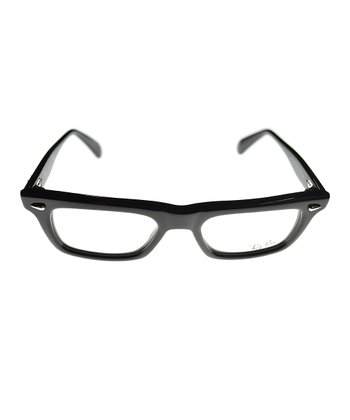 Black Shiny Thick Frame Eyeglasses