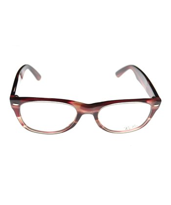 Burgundy Stripe Eyeglasses