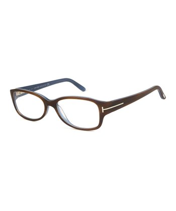 Light Brown & Blue Eyeglasses
