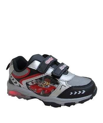 Silver & Red Race Sneaker