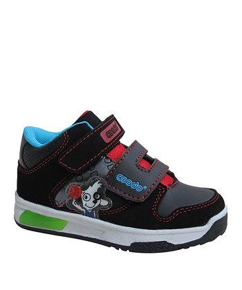 Black & Red Velcro Stitch Sneaker