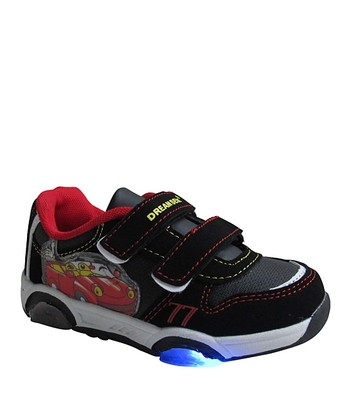 Black & Red Light-Up Velcro Sneaker