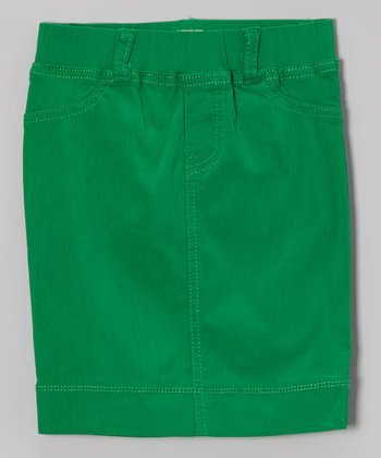 Green Tail Pencil Skirt - Toddler & Girls