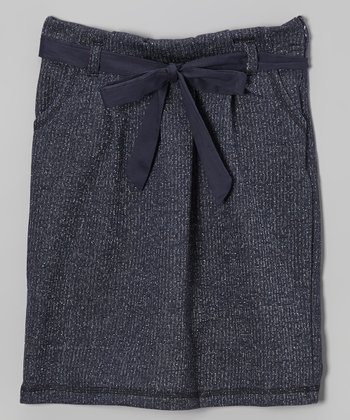 Navy Petra Skirt - Girls