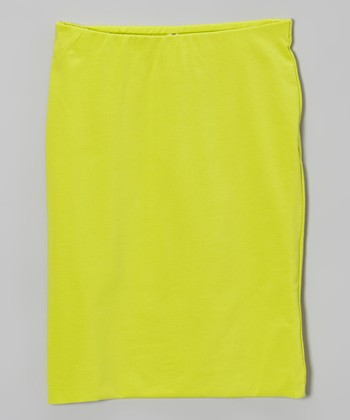 Lime Pencil Skirt - Girls