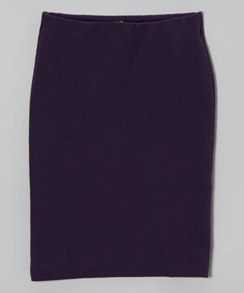Purple Pencil Skirt - Girls