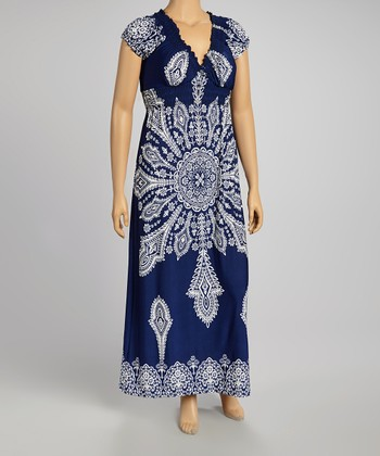 Navy Maxi Dress - Plus