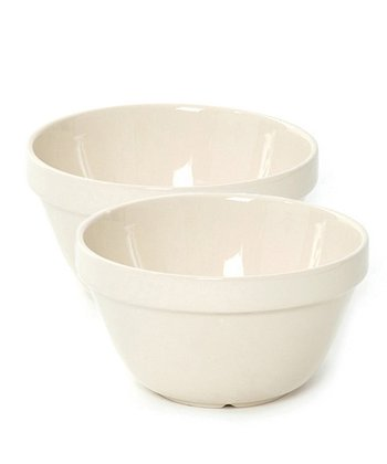 White Pudding Basin - Set of Two