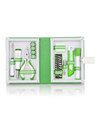 Green & White Book Tool Kit Set