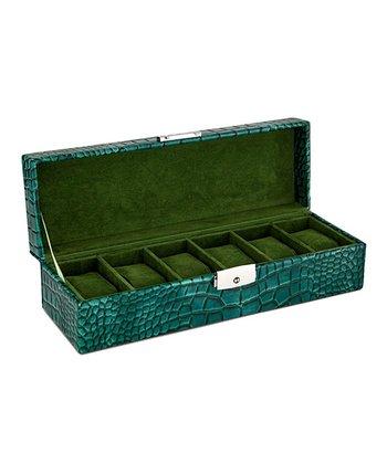 Green Crocodile Watch Box