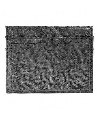 Black Leather Slim Wallet