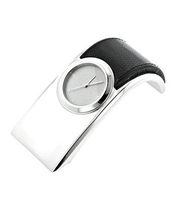 Silver & Black Desk Clock
