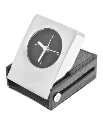 Silver & Black Modern Alarm Clock