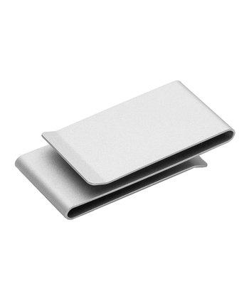 Silver Matte Double-Sided Money Clip