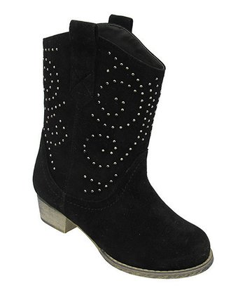 Black Studded Lobo Cowboy Boot