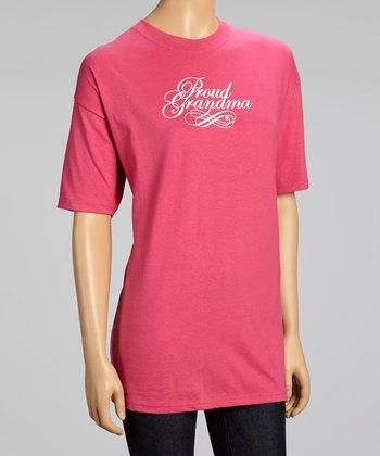 Pink 'Proud Grandma' Tee - Women