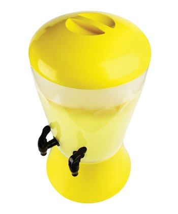 Yellow 3-Gal. Beverage Dispenser