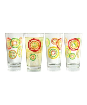 Fireworks Glass - Set of Four