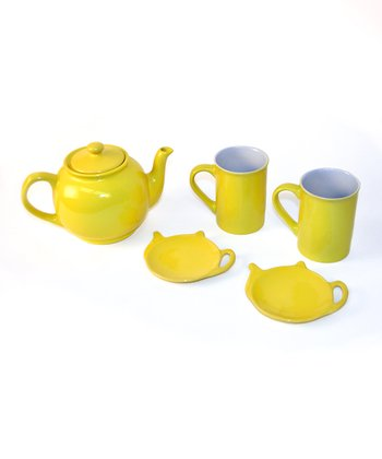 Yellow Tea for Two Set
