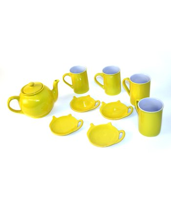 Yellow Tea for Four Set
