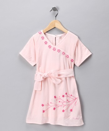Soft Pink Cherry Blossom Dress - Infant, Toddler & Girls