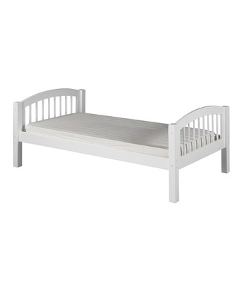 White Arch Spindle Platform Bed