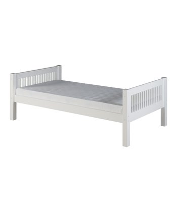 White Mission Platform Bed