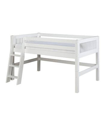 White Mission Low Loft Bed