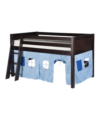 Cappuccino Panel Low Loft Playhouse Bed