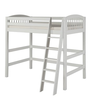 White Arch Spindle High Loft Bed