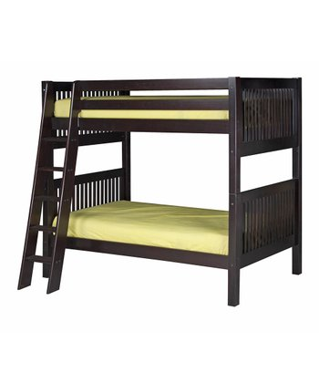 Cappuccino Mission Angle Ladder Bunk Bed