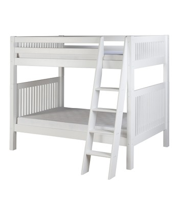 White Mission Angle Ladder Bunk Bed