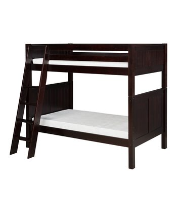 Cappuccino Panel Angle Ladder Bunk Bed