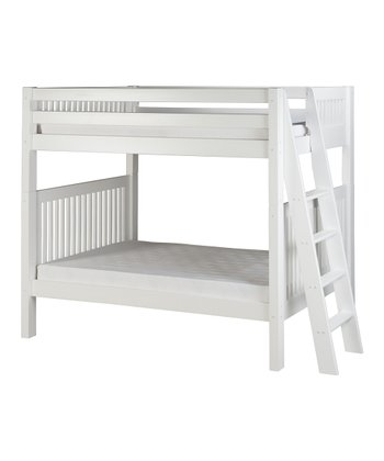 White Mission Lateral Angle Ladder Bunk Bed