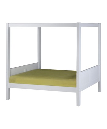 White Panel Canopy Bed
