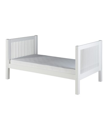 White Mission Tall Twin Platform Bed