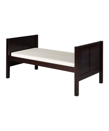 Cappuccino Panel Tall Twin Platform Bed