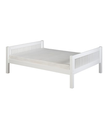White Mission Full Platform Bed