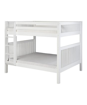 White Mission Full Bunk Bed