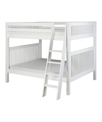 White Mission Angle Ladder Full Bunk Bed