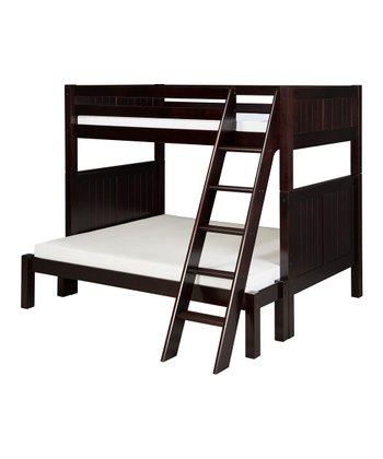 Cappuccino Panel Angle Ladder Twin & Full Bunk Bed