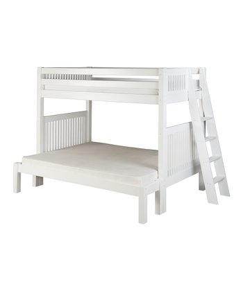 White Mission Lateral Angle Ladder Twin & Full Bunk Bed