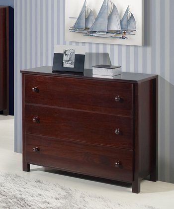 Cappuccino Three-Drawer Dresser