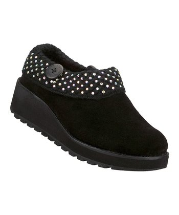 Black Suede Diamond Sky Visioneers Clog