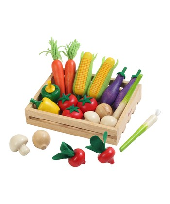 Toy Vegetable & Crate Set