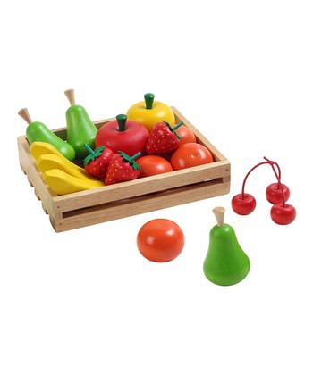 Toy Fruit & Crate Set