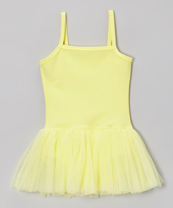 Yellow Camisole Skirted Leotard - Toddler & Girls