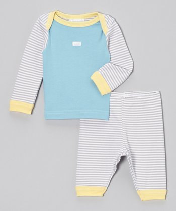 Gray Stripe Tee & Leggings - Infant