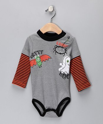 Gray 'Batty' Bodysuit - Infant