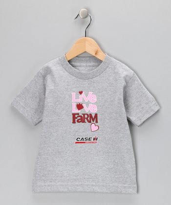 Athletic Heather 'Live Love Farm' Tee - Infant, Toddler & Girls